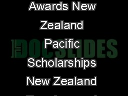 Application Form New Zealand ASEAN Scholars Awards New Zealand Pacific Scholarships New Zealand Development Scholarships Commonwealth Scholarships www