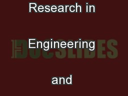 International Journal of Research in Engineering and Technology ...