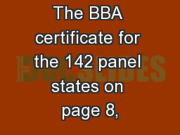 1) Durability; The BBA certificate for the 142 panel states on page 8,