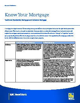 Know Your MortgageTraditional Residential Mortgage and Collateral Mort