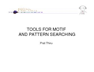 •What are motifs?