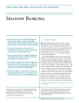 FRBNY Economic Policy Review  December  Shadow Banking  PowerPoint PPT Presentation