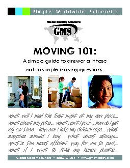 MOVING 101:A simple guide to answer all those  not so simple moving qu PDF document - DocSlides