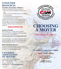 Canadian Association of MoversContact the Canadian Association of Move