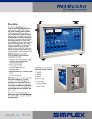 Watt-Muncherbattery systems, AC to DC recti ers The Watt-Muncher provi