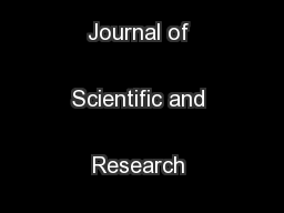 International Journal of Scientific and Research Publications ...