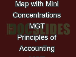 Requirements  core classes   electives Rady Business Minor Course Sequence Map with Mini Concentrations MGT Principles of Accounting MGT Enterprise Finance MGT Product Marketing and Management MGT Per