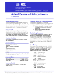Actual Revenue History Actual Revenue History (ARH) insurance protects PowerPoint PPT Presentation
