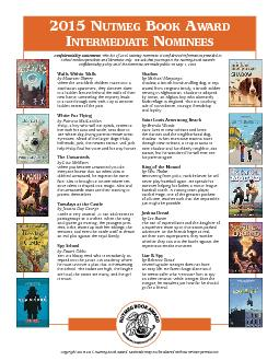 2015 NUTMEG BOOK ARDTERMEDIATE NOMINEES