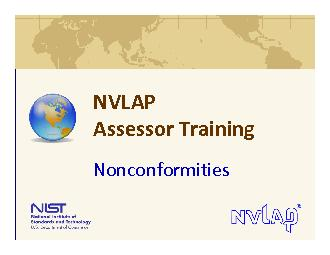 NVLAP AssessorTrainingNonconformities