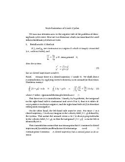 Non-Existence of Limit Cycles