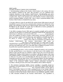 LETTER CONTRACT TERMS AND CONDITIONS 1. Notwithstanding anything in th