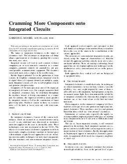 Cramming More Components onto Integrated Circuits GORDON E
