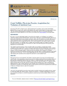 Court Nullifies Physician Practice Acquisition for