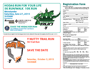 *Two event discount. Register for both the Hodag and Nutty Trail Run.