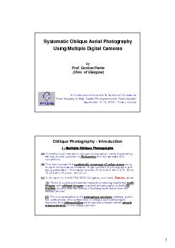 Systematic Oblique Aerial Photography Using Multiple Digital CamerasPr PowerPoint PPT Presentation