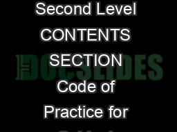 A Guide to Subject Inspection at Second Level CONTENTS SECTION Code of Practice for Subject Inspection