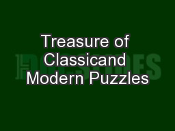 Treasure of Classicand Modern Puzzles