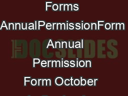 Forms Bank Permission Forms AnnualPermissionForm   Annual Permission Form October   to September   infogirlscoutsnrcal