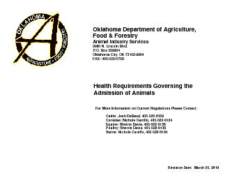 Oklahoma Department of Agriculture,