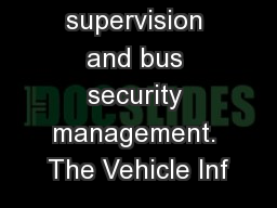 bus real-time supervision and bus security management. The Vehicle Inf