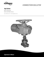 Vogt Valves Motor-Operated Gate and Globe Valves FCD VVABR1019-00