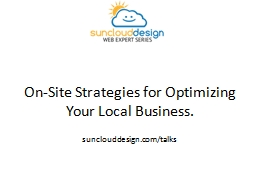 On-Site Strategies for Optimizing Your