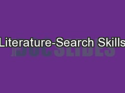 Literature-Search Skills