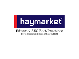 Editorial SEO Best Practices