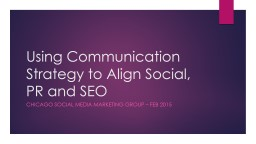 Using Communication Strategy to Align