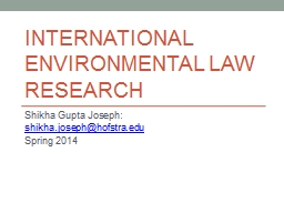 International Environmental law PowerPoint PPT Presentation
