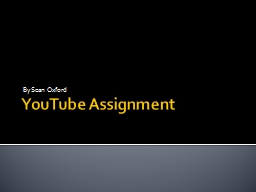 YouTube Assignment