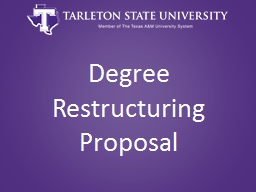 Degree Restructuring Proposal