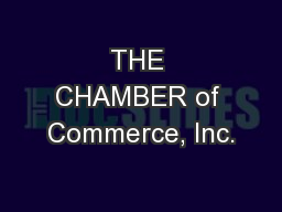 THE CHAMBER of Commerce, Inc.