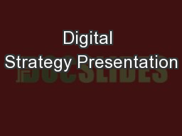 Digital Strategy Presentation