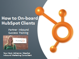 How to On-board HubSpot Clients