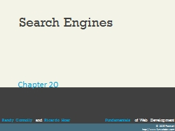Search Engines PowerPoint PPT Presentation