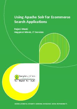 Using Apache Solr for Ecommerce