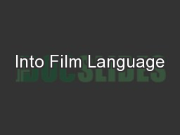 Into Film Language