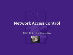 Network Access Control PowerPoint PPT Presentation