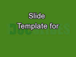 Slide Template for