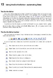 Using the Dole Editorautomating Stata The Dole Editor Stata comes with an integrated text editor called the Dole Editor which can be used for many tasks