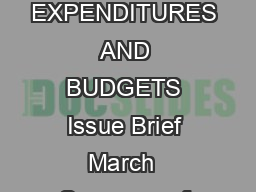 SUMMARY OF ELECTRIC UTILITY CUSTOMERFUNDED ENERGY EFFICIENCY SAVINGS EXPENDITURES AND BUDGETS Issue Brief March  Summary of Electric Utility CustomerFunded Energy Efficiency Savings  Expenditures and