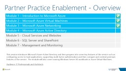 Partner Practice Enablement - Overview