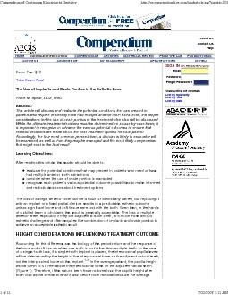 Compendium of Continuing Education in Dentistryhttp://ce.compendiumliv