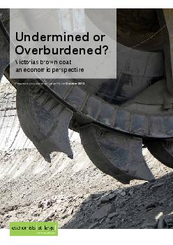 Overburdened? Prepared by Economists at Large Pty LtdVictorias brown c