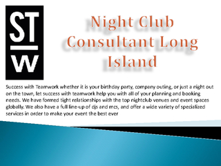 Night Club Consultant Long Island