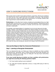 HOW TO OVERCOME PERF