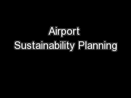 Airport Sustainability Planning