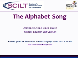 The Alphabet Song PowerPoint PPT Presentation